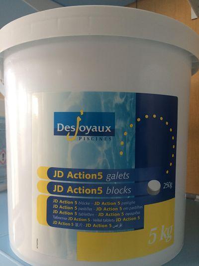 Producto químico cloro 5 acciones