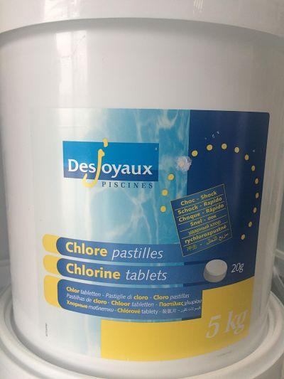 Producto químico cloro choque