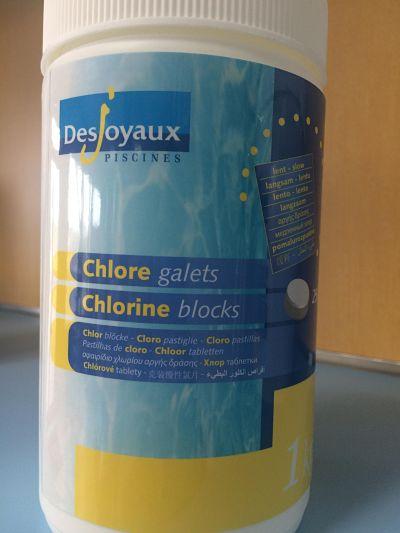 Producto químico cloro lento